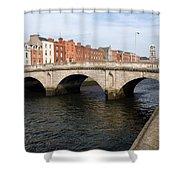 Mellows Bridge In Dublin Shower Curtain