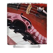 Melodic Reflections Shower Curtain