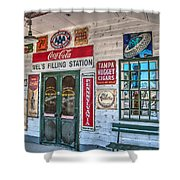 Mel's Filling Station Shower Curtain