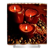 Melted Candles Shower Curtain