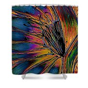 Melted Crayons Shower Curtain