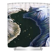 Melting Glacier 3 Of 3 Shower Curtain
