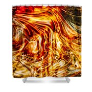 Melting Gold Shower Curtain