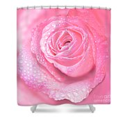Melting In Pink Shower Curtain