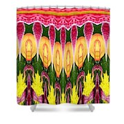 Melting Lily And Chrysanthemums Abstract Shower Curtain
