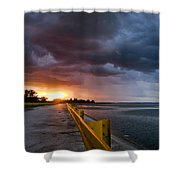 Melting Point Shower Curtain by Davorin Mance