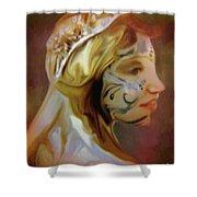 Melusine Of Avalon Shower Curtain