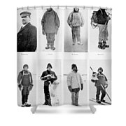 Members Of The British Antarctic Expedition At The Start Of The Journey Shower Curtain