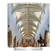 Memmingen Pipe Organ Shower Curtain