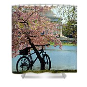 Memorial Bicycle Shower Curtain