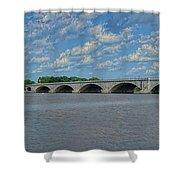 Memorial Bridge After The Storm Shower Curtain