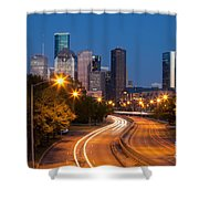 Memorial Drive And Houston Skyline Shower Curtain