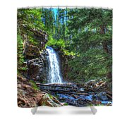 Memorial Falls With Sky Shower Curtain