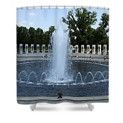 Memorial Fountain Washington Dc Shower Curtain