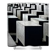Memorial To The Murdered Jews Of Europe Shower Curtain by RicardMN Photography