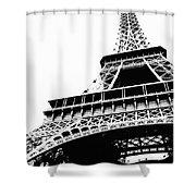 Eiffel Tower Silhouette Shower Curtain