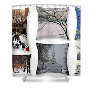 Memories Of Winter - A Collage Shower Curtain