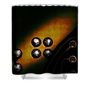 Memory Chip Number Three Shower Curtain by Bob Orsillo