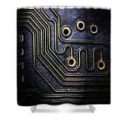 Memory Chip Number Two Shower Curtain