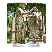 Memphis Elmwood Cemetery Monument - Cassie Hill Shower Curtain