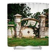 Memphis Elmwood Cemetery - Ayres Family Vault Shower Curtain