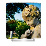 Memphis Elmwood Cemetery - Boy Angel Shower Curtain