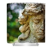 Memphis Elmwood Cemetery - Girl With Cross Close-up Shower Curtain