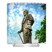 Memphis Elmwood Cemetery - Man With Cane Shower Curtain