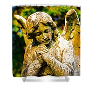 Memphis Elmwood Cemetery - Praying Angel Shower Curtain