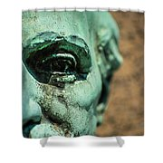 Memphis Elmwood Cemetery Monument - The Governor Shower Curtain