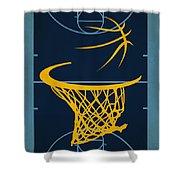 Memphis Grizzlies Court Shower Curtain