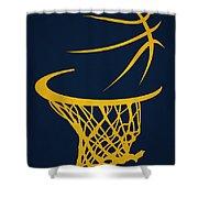 Memphis Grizzlies Hoop Shower Curtain