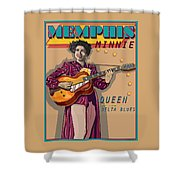 Memphis Minnie Queen Of The Delta Blues Shower Curtain