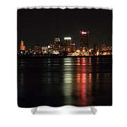 Memphis Tn Skyline At Night Shower Curtain