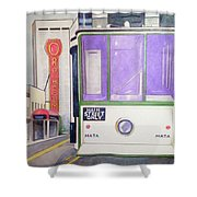 Memphis Trolley Shower Curtain by Loretta Nash