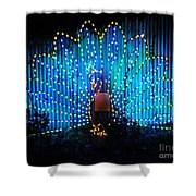 Memphis Zoo Lights Shower Curtain