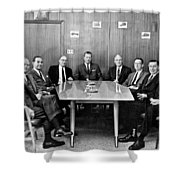 Men At A Business Meeting Shower Curtain