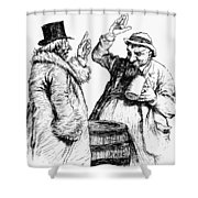Men Drinking, 1900 Shower Curtain