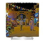 Men In The Spice Market In Aswan-egypt  Shower Curtain