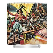 Men Of The Jolly Roger Shower Curtain