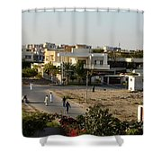 Men Play Street Cricket Karachi Pakistan Shower Curtain
