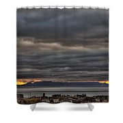 Menacing Skies Shower Curtain
