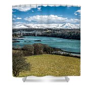 Menai Bridge 1819 Shower Curtain