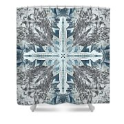 Mendenhall Glacier Cross Shower Curtain