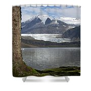 Mendenhall Glacier In Late Fall Shower Curtain