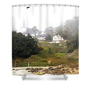 Mendocino Ca Church Shower Curtain