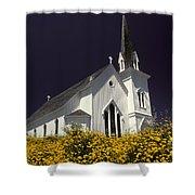 Mendocino Presbyterian Church Shower Curtain