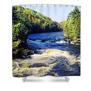 Menominee River At Piers Gorge, Upper Shower Curtain