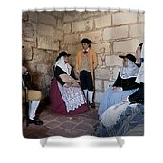 Menorquins Dress And Suit  Back In Time Xviii Century Shower Curtain
