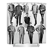 Men's Fashion, 1902 Shower Curtain